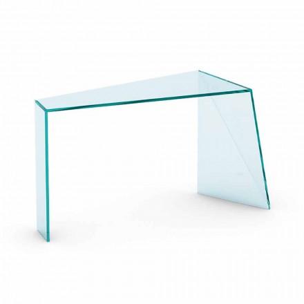 Moderne entree Consolle in extrahelder glas gemaakt in Italië - Rosalia