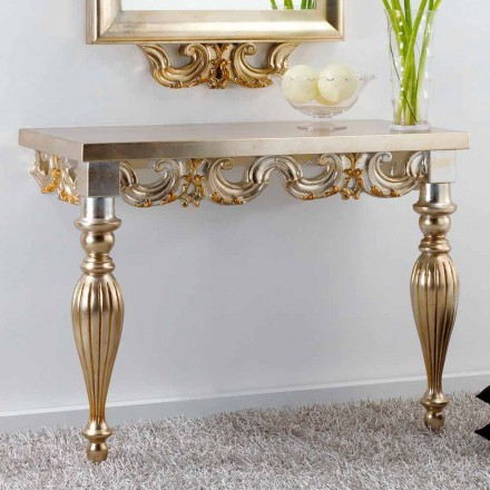 Console klassieke houten wand-Liss, made in Italy