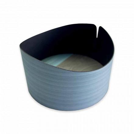 Moderne ronde doos in echt hout gemaakt in Italië - Stan