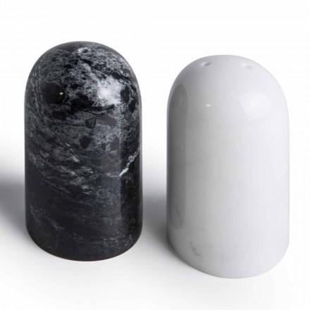 Zout- en peperbakken in Carrara en Marquinia-marmer Made in Italy - Xino