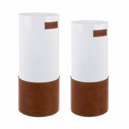 Paar moderne paraplubak van staal en kunstleer Homemotion - Umbro
