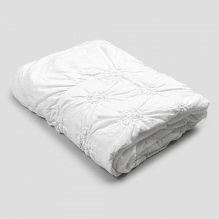 Hoes voor queensize bed van linnen en katoen met elegant luxe borduursel - Patrizio