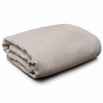 Dekbedovertrek van natuurlijk linnen voor kingsize-, eenpersoons- en full-size bedden Made in Italy - Blessy
