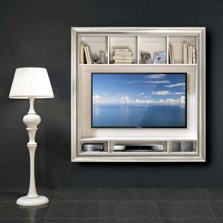 Mirko-tv-standaard voor wandmontage, in hout