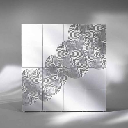 Dressoir met 16 ante Slate modern design, wit, zwart of goud