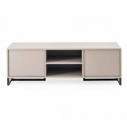 Modern laag dressoir in Mdf en metaal Made in Italy - Rohan