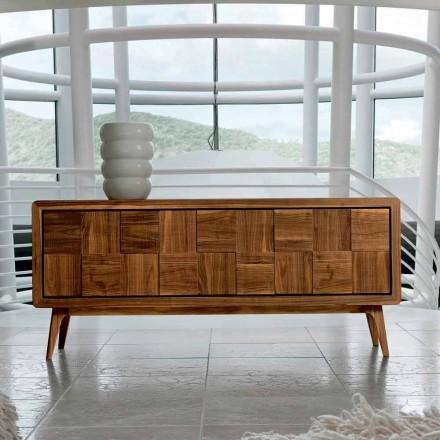 Kast met 3 deuren in modern design massief notenhout Nensi