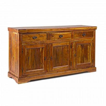 Klassiek design dressoir in massief acaciahout rustieke afwerking - Malaya