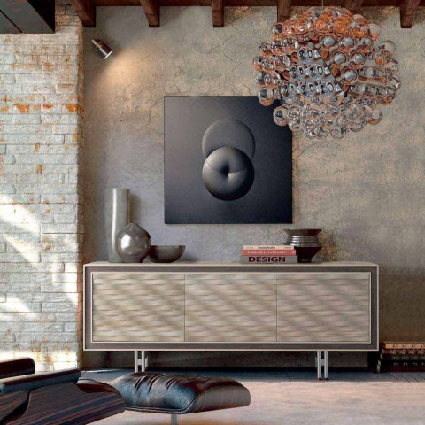 Geloof modern design in massief hout, L192 x D 50 cm, Teresa