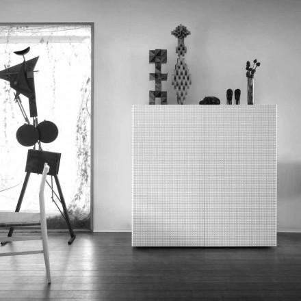 ontwerp dressoir met 2 deuren wit, zwart of goud patroon Flora