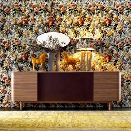 Grilli York 4 houten fineer dressoir gemaakt in Italië