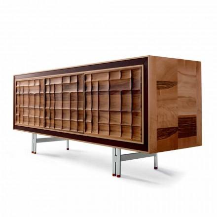 Modern design Kast met 3 deuren in massief hout Anna