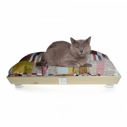 Honden- en kattenkennel in massief hout met wasbaar kussen Made in Italy - Juma