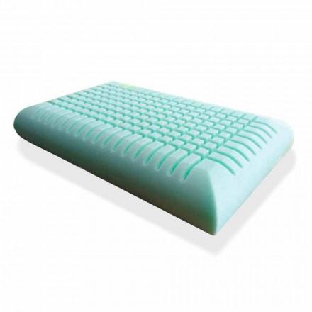 Ergonomisch Memory Foam Kussen 12 cm hoog Made in Italy, 2 stukken - Cool