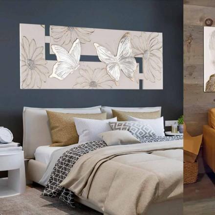 Met de hand geschilderde dubbel-elle-schilderij met vlinders gemaakt in Italië Martina