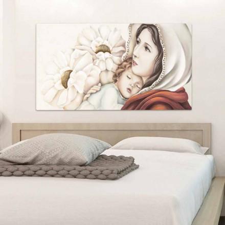 Moderne moeder schilderij met kind decoraties in Scott bladgoud