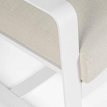 2-zits buitenbank van aluminium met stoffen kussens - Mirea
