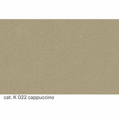 2-zitsbank bekleed met leer met gewatteerd effect Made in Italy - Vesuvio