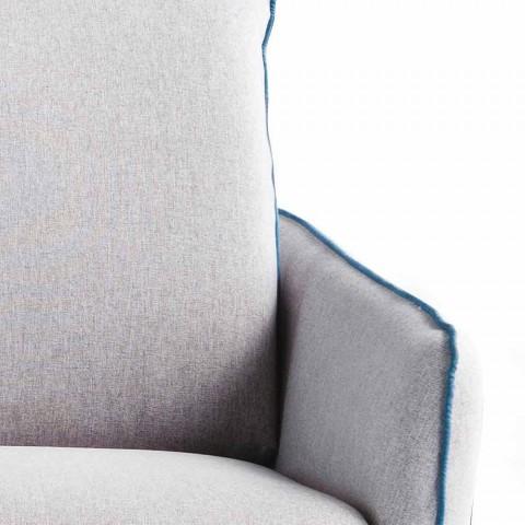 3-zits designbank L.185cm stof / eco-leer gemaakt in Erica, Italië