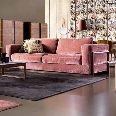 3-zits gestoffeerde designbank Grilli York made in Italy