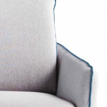 Maxibank 3 plaatsen L205 cm modern design in eco-leer / Erica-stof