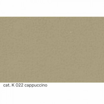 3-zitsbank bekleed met leer met walnootpoten Gemaakt in Italië - Alessandria