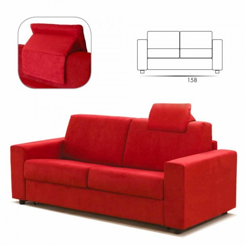 2-zitsbank modern design imitatieleer / stof gemaakt in Mora, Italië