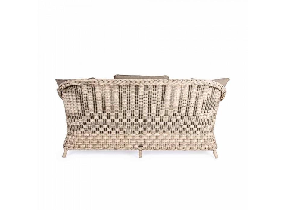 3-zits tuinbank in gevlochten glasvezel Homemotion - Casimiro