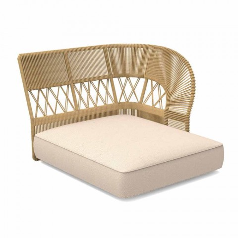 Outdoor chaise longue-bank van touw en stof - Cliff Decò van Talenti