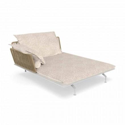 Tuinchaise longue bank in aluminium en stof - Cruise Alu van Talenti