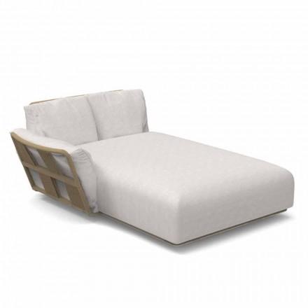 Tuinchaise longue bank in stof en aluminium - Scacco van Talenti