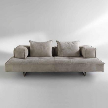 Sofa modern design Cardo, lederen bekleding