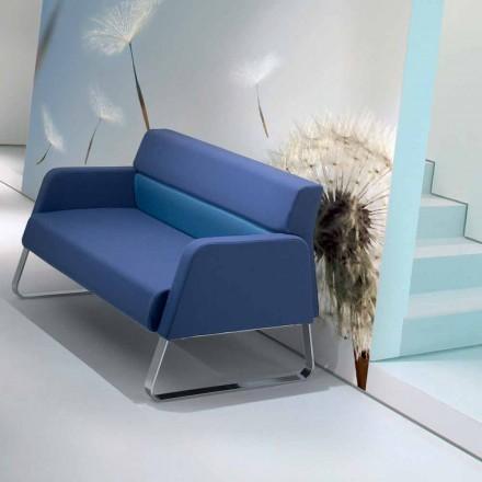 Designer imitatieleerwachtbank gemaakt in Ennio, Italië