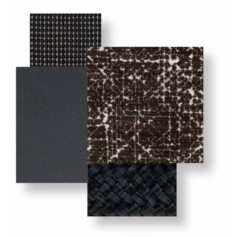 2-zits buitenbank van aluminium en stof - Cottage Luxury van Talenti
