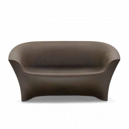 Designbank voor buiten in gekleurd polyethyleen Made in Italy - Conda