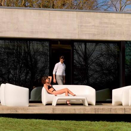 Moderne buitenbank gemaakt van polyethyleenhars, Blow by Vondom