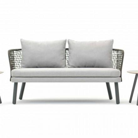 Moderne Varaschin Emma outdoor sofa in stof en metaal