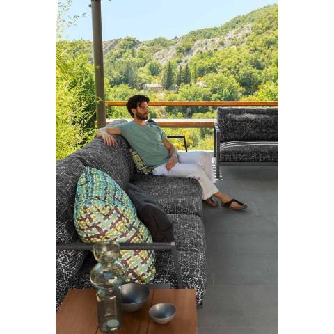 3-zits tuinbank van aluminium en stof - Cottage Luxury van Talenti