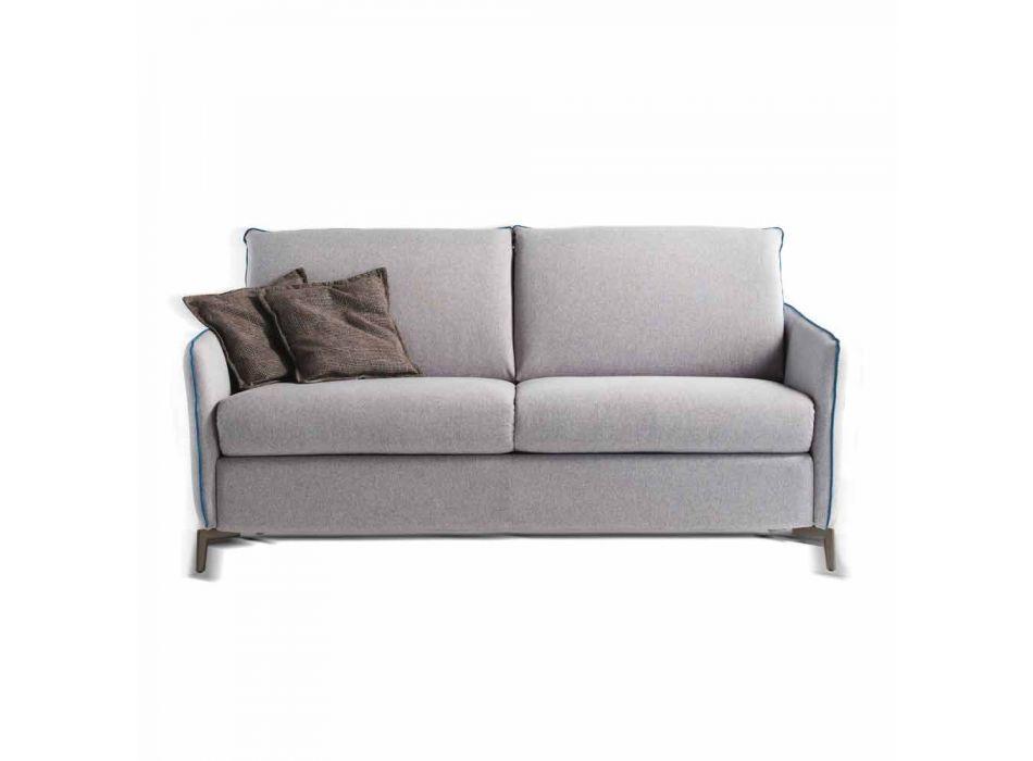 Moderne design tweezitsbank L.145 cm eco-leer / Erica stof