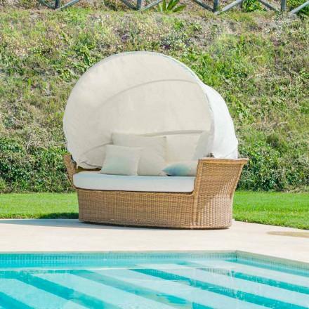 Sofa eiland rustgevende tuin met Hector gemaakt weven met de hand, modern design