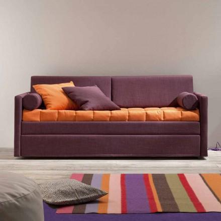 Design bank met stapelbed bekleed met stof Made in Italy - Grietje