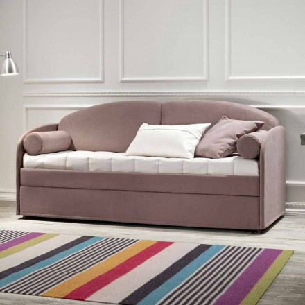 Moderne stapelbed in bruine stof Made in Italy - Pont