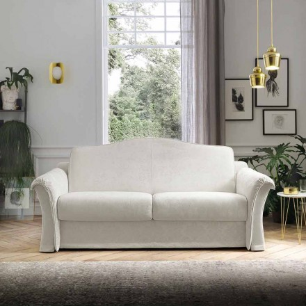 Stoffen slaapbank met Arabescato-details Made in Italy - Gigliola