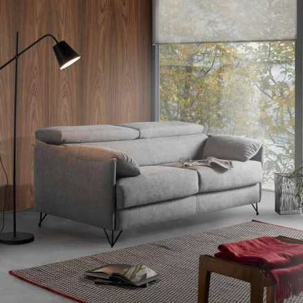Slaapbank in afneembaar stoffen ontwerp gemaakt in Italië Vittorio