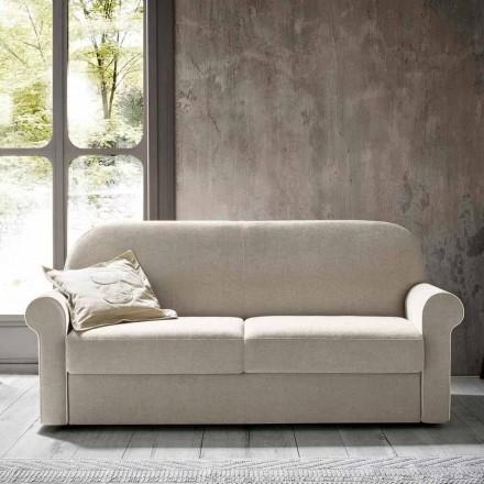 Slaapbank voor 2 personen in designstof Made in Italy - anemoon