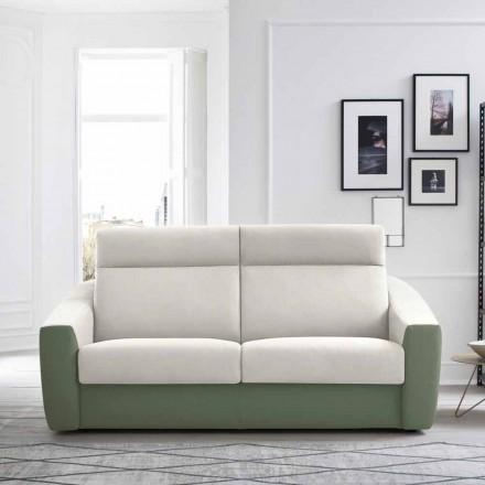 Moderne slaapbank bekleed met tweekleurige stof Made in Italy - Begonia