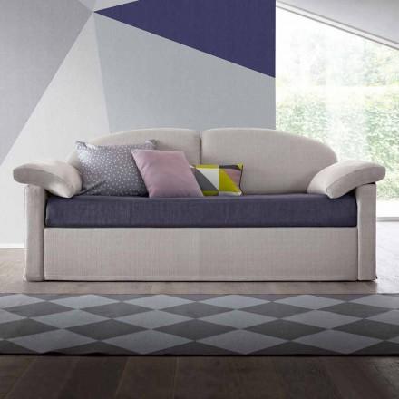 Moderne slaapbank bekleed met tweekleurige stof Made in Italy - Kayla