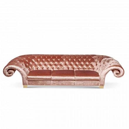 Lineaire sofa in stof werkte gewatteerde klassieke Baloo