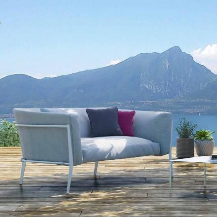 Moderne buiten- of binnenbank met verwijderbaar ontwerp gemaakt in Italië - Carmine