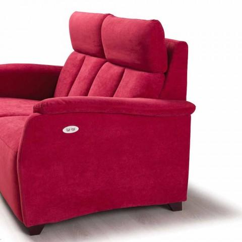 Elektrische relaxbank 2posts, 2 elektrische stoelen Gelso, modern design
